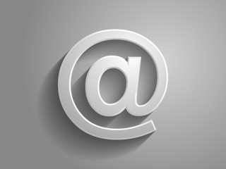 3d Vector illustration of email icon