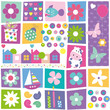kids birthday set pattern