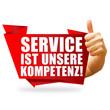 Service ist unsere Kompetenz! Button, Icon