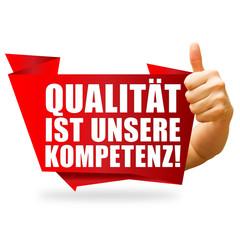 Qualität ist unsere Kompetenz! Button, Icon