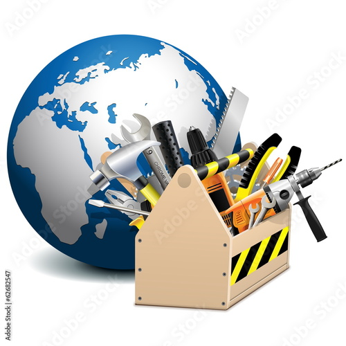 Vector Toolbox with Globe