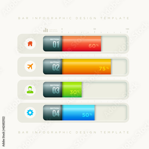 Bar infographic design template