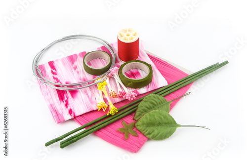 Set of artificial flower tools