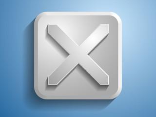 3d Vector illustration of prohibit icon