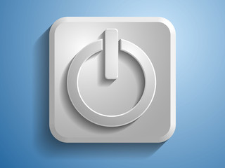 3d Vector illustration of a power icon
