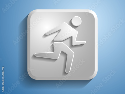3d Vector illustration of running man icon