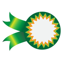 vector  sticker  ,green, ethnic, green ribbon
