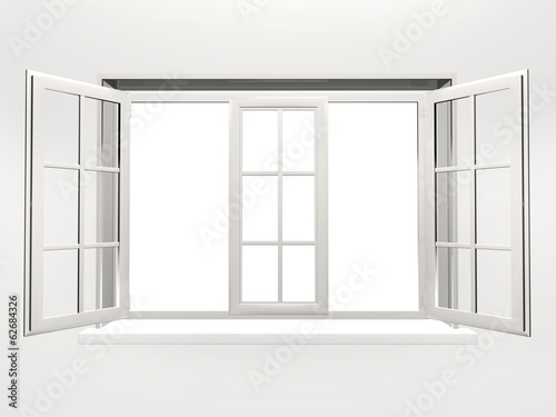 Opened window