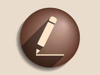 Flat long shadow icon of notes