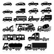 Cars icons set. Vector illustration.