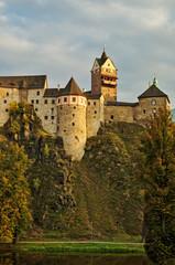 Gothic-Romanesque castle Loket in the Czech Republic