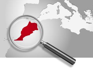 Landkarte *** Nordafrika Marokko