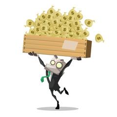 businessman carry money