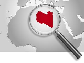 Landkarte *** Nordafrika Libyen