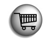 Flat long shadow icon of shopping chart