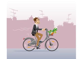 Parisien en vélo
