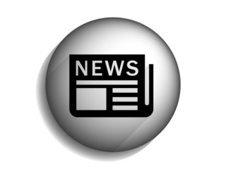 Flat long shadow icon of news
