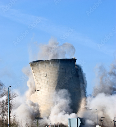 Demolition of a power station