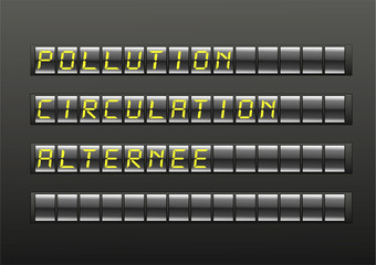 pollution circulation alternée