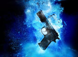 handgun underwater