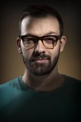 Man with retro glasses
