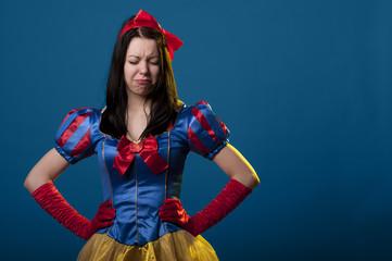 Snow white unhappy