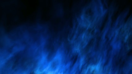 Mystic loopable blue fractal style fire background, CG animation