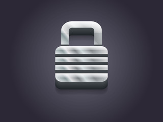 3d Vector illustration of lock icon