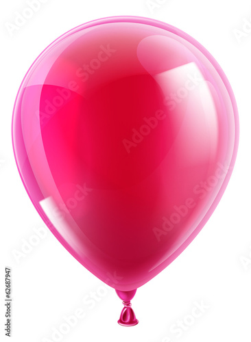 Pink birthday or party balloon - 62687947