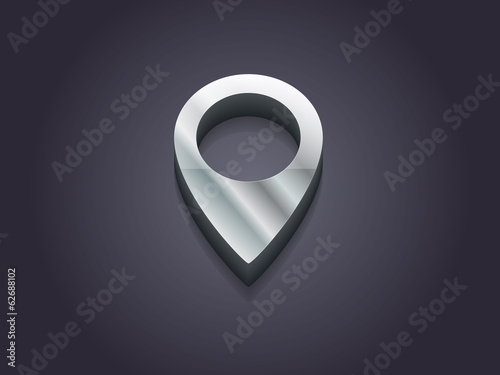 3d Vector illustration of mark icon
