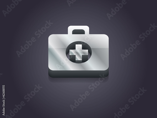 3d Vector illustration of ambulanse icon