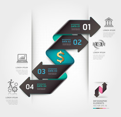 Abstract finance arrow infographics template. Vector illustratio
