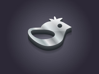 3d Vector illustration of a bird icon