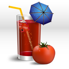 a glass of tomato juice with ice2