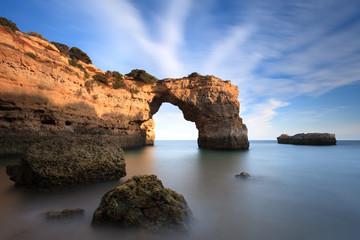 Praia turística no Algarve