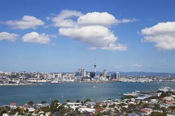 Neuseeland, Blick auf Skyline von Auckland