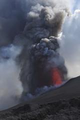Italien, Sizilien, Blick auf Lava vom Ätna