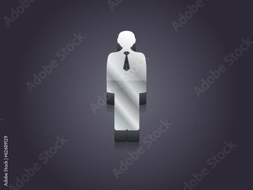 3d Vector illustration of  businessman icon