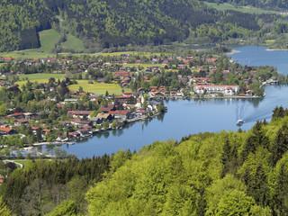 Deutschland, Bayern, Blick auf Rottach Egern am Tegernsee