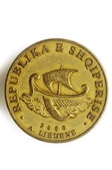Leku shqiptar Albanian lek Albania money albanés Albanischer