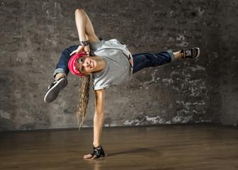 Frau, tanzen Hip-Hop-Stil