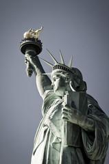 USA, New York, Blick auf die Freiheitsstatue