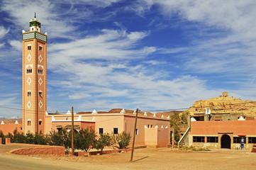 Afrika, Marokko, Ansicht der Moschee von Ait Benhaddou