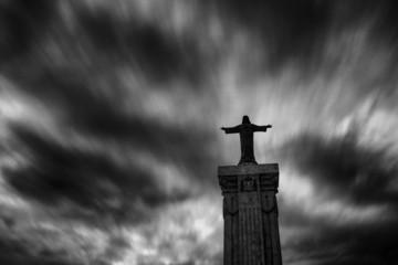 Spanien, Menorca, Monte Toro, Blick auf Jesus-Statue