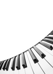 Piano keyboard. Abstract background with a field for text