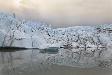 USA, Alaska, Blick auf Matanuska Gletscher Mund und Gletschersee