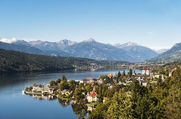 Österreich, Kärnten, Ansicht von Millstatt und Millstätter See