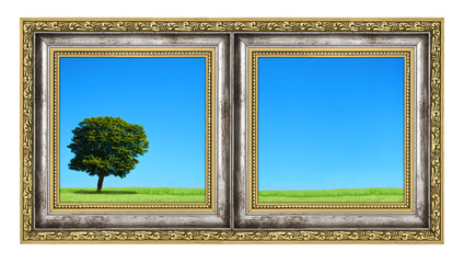 diptych with landscape
