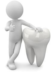 gesunde weisse Zähne