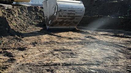 Aushubarbeiten auf der Baustelle